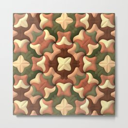 Camouflage Quilt Metal Print