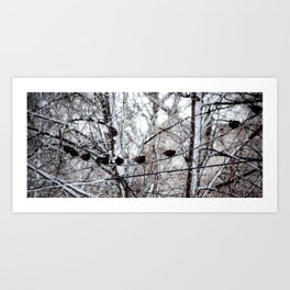 Fat Birds Chirping Art Print