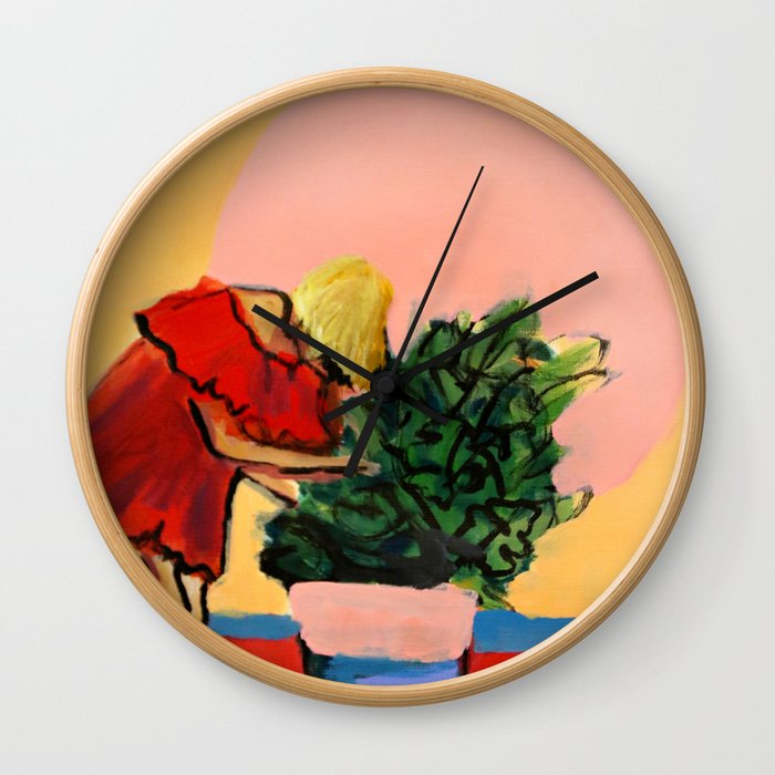 I Have This Thing With Plants Wall Clock