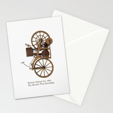 Daimler Riding Car, 1885. The world's first motorbike. Stationery Cards