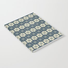 Blue Floral Japanese Pattern Notebook