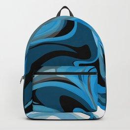 Liquify in Denim, Navy Blue, Black, White Backpack