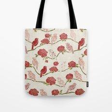 Nightingale and Rose Tote Bag