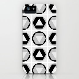 Classic Shapes Black & White iPhone Case