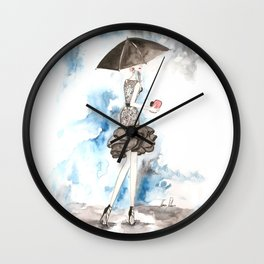 Rainy Wall Clock