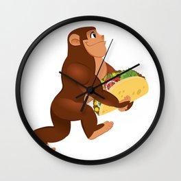 Bigfoot Taco Cinco de Mayo Funny Wall Clock