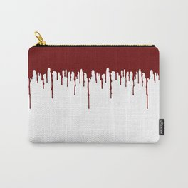 Red Drip White Carry-All Pouch