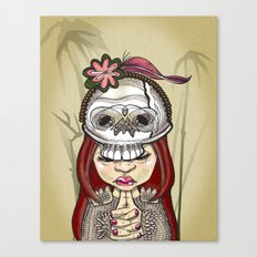 Wearing my lucky skull Canvas Print