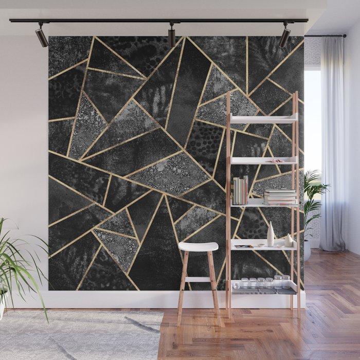 Black Stone 2 Wall Mural