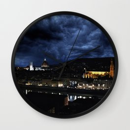 Midnight in Florence Wall Clock