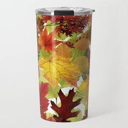 Autumn Fall Leaves Travel Mug