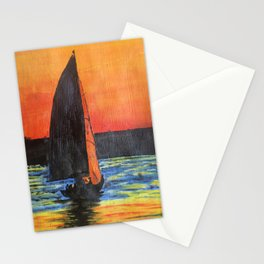 Sailship on the river Tejo in Lisbon Stationery Cards