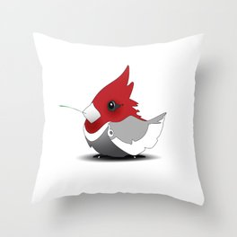 A~Cardinal Throw Pillow