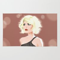 blondie Area & Throw Rugs featuring Blondie by drawgood