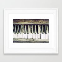 piano Framed Art Prints featuring piano by hilde.