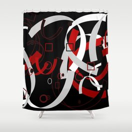 Simple Abstract Shower Curtain