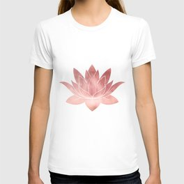Pink Lotus Flower | Watercolor Texture T-shirt