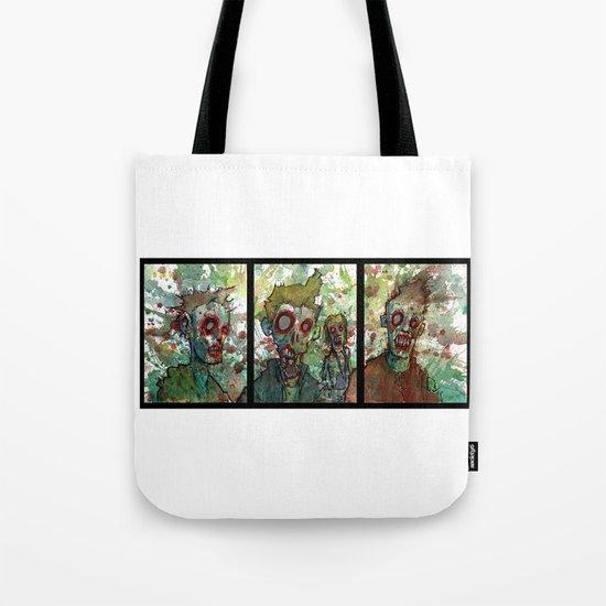 zombie triptych Tote Bag