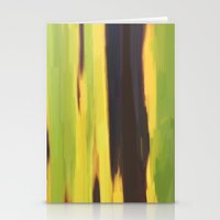 banana leaf Stationery Cards featuring Burnt Banana Leaf by Robert Morris