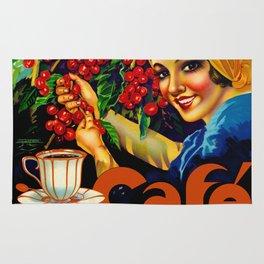 Vintage Brazil Coffee Ad Rug