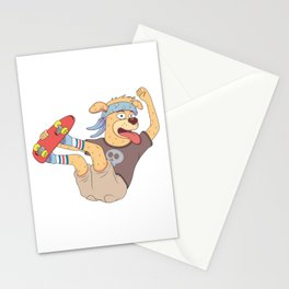 cool sticker designs play skateboard Stationery Cards