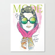 Hipster lady Canvas Print