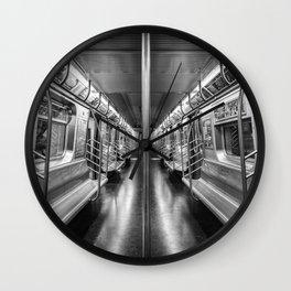 NYC subway N train Wall Clock