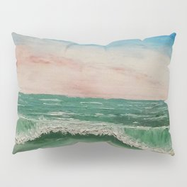 Caribbean Ocean Wave / Oil Painting Pillow Sham
