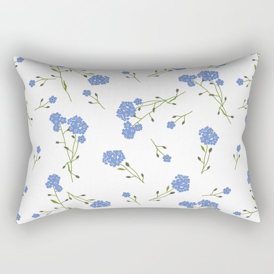 Forget me not II Rectangular Pillow