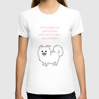 pomeranian T-shirts featuring Pomeranian by Robin Design