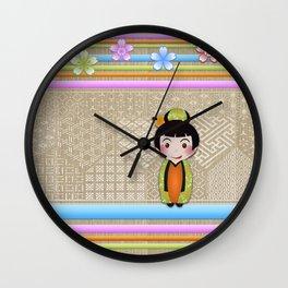 kokeshi noshi Wall Clock