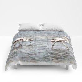 Be A Flamingo Watercolor Comforters