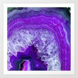 purple stone Art Print