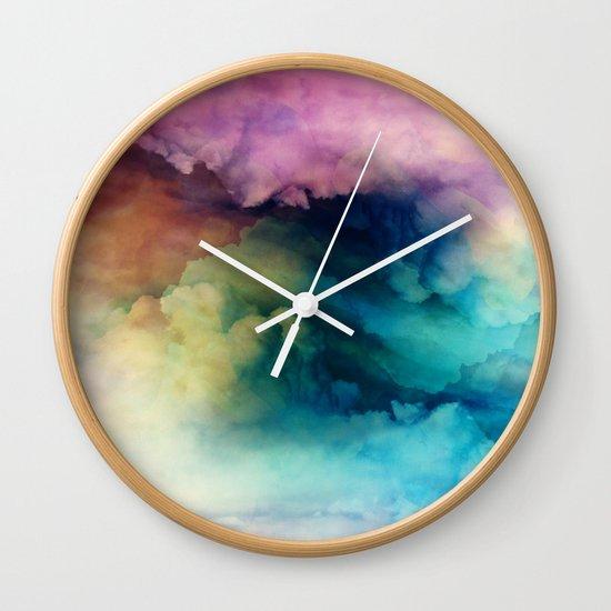 Rainbow Dreams Wall Clock by Nature Magick