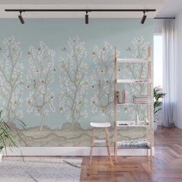Citrus Grove Mural in Mist Wall Mural