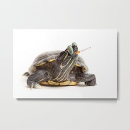 Tough Turtle Metal Print