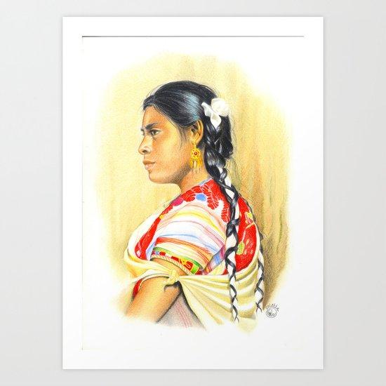 MAYA GIRL IN CHIAPAS, MEXICO Art Print