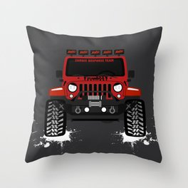 the_blessed_hellride Throw Pillow