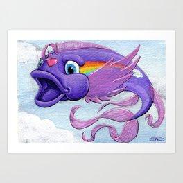Koi Series-My Little Koi Fish Art Print