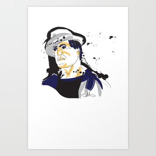 Rocky Balboa_INK Art Print