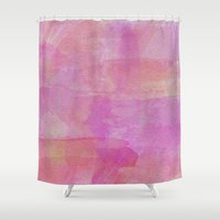 wwe Shower Curtains featuring Watercolor by eARTh