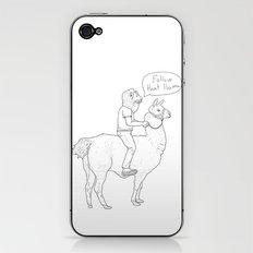 Follow that llama ! iPhone & iPod Skin