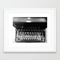 typewriter Framed Art Prints featuring Typewriter by Madison Daniels