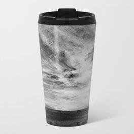 Hawaiian Ocean in Black and White Metal Travel Mug
