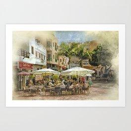 Cafe Veril, Alcala, Tenerife Art Print