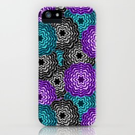 Dahlia Multicolored Floral Abstract Pattern iPhone Case