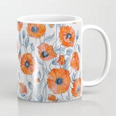 Poppies botanical art Mug