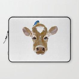 Bluebird Cow Laptop Sleeve