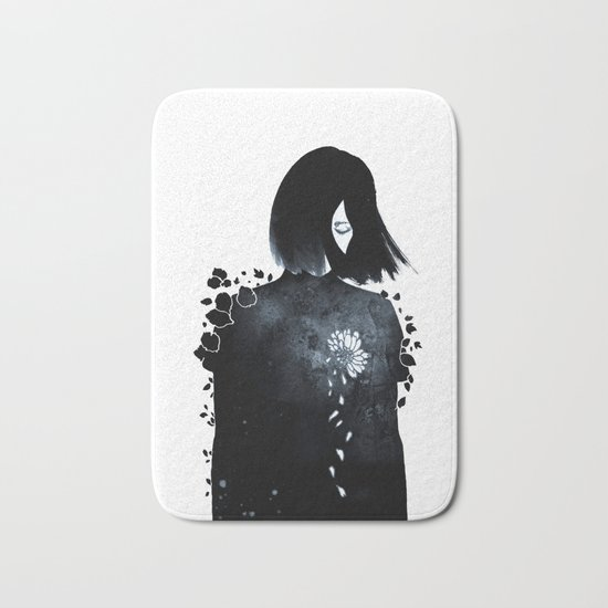 running out of patience Bath Mat