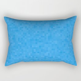Pixelated Azure Rectangular Pillow